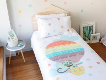 Jeanette the Cat Organic Kids Bedding aerial profile